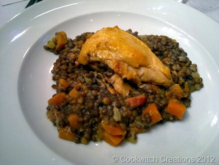 Guinea fowl with puy lentils