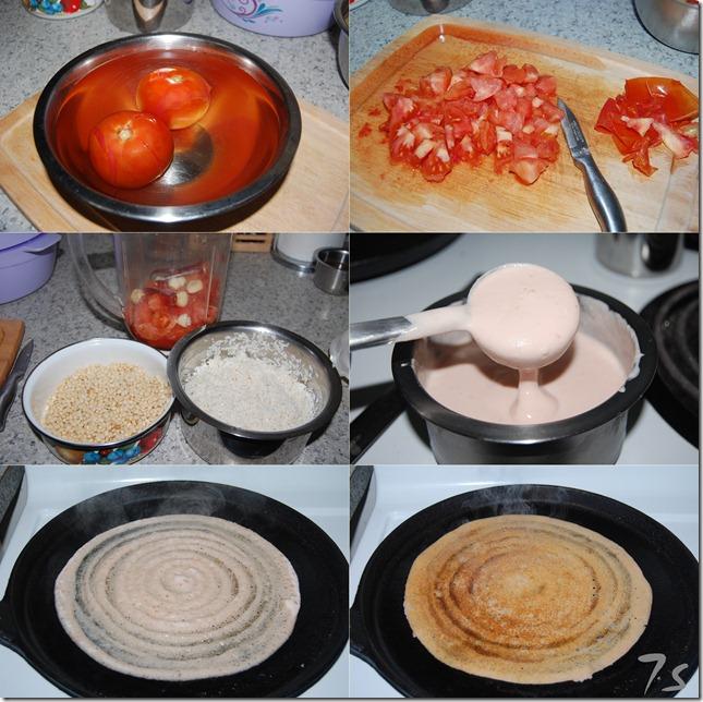 Tomato dosai process
