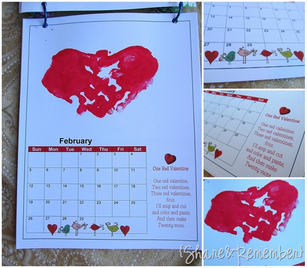 Calendar Made By Kids : Handprint calendar