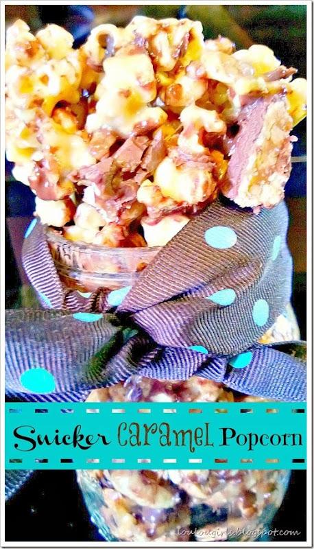 snicker caramel popcorn