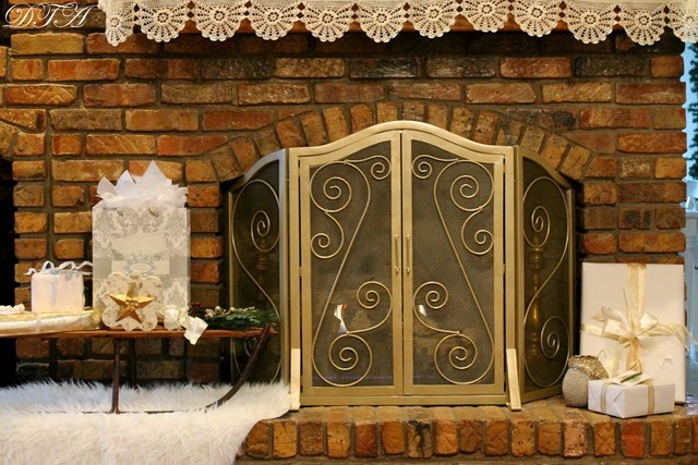 Decor To Adore~ Fireplace mantle 230-001