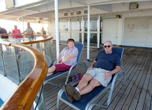Kicking Back on the Lido Deck