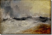Turner - waves breaking against the wind