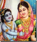 [mother Yashoda and Krishna]