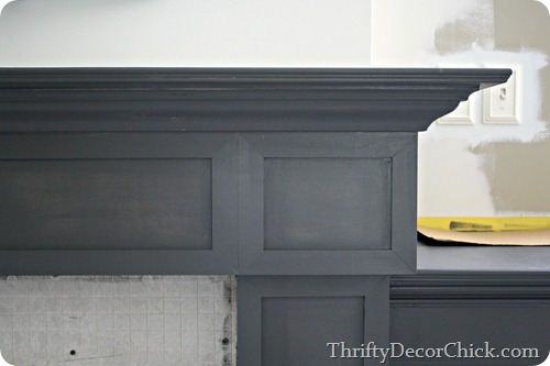 A painted fireplace from Thrifty Decor Chick
