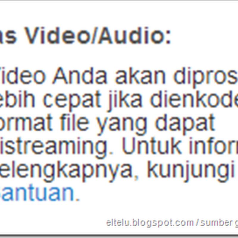 Tips Cara Mempercepat Proses Upload Video Atau Mengunggah File Ke YouTube