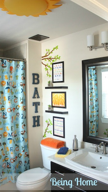 Kids Bathroom Makeover - Being Home