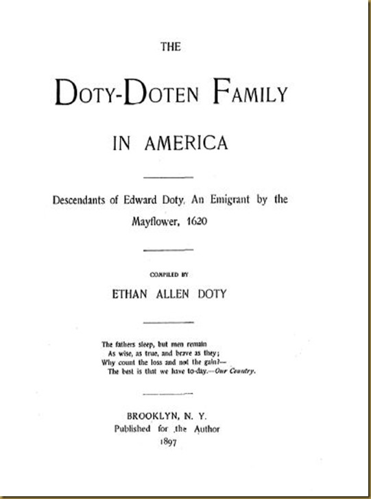 Doty-Doten Family In America - The Family of Doty-Doten (1)