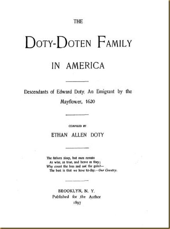 Doty-Doten Family In America - The Family of Doty-Doten (1)