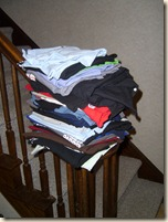 stack of washed t-shirts