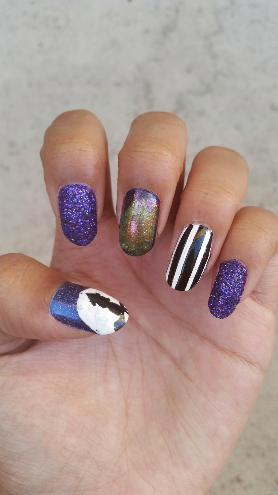 arielle's nail stuffs: halloween nails #1 a witchy night