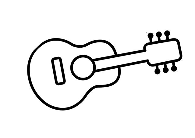 Fantástico Páginas Para Colorear De Guitarra Para Imprimir Friso ...