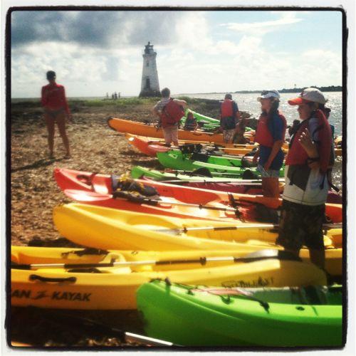 Aidan+Cockspur+Island+Lighthouse+kayak