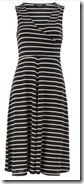 Navy and Ivory striped dress