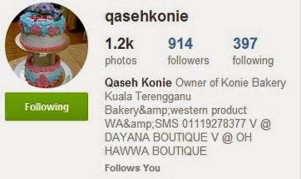 instagram qaseh konie