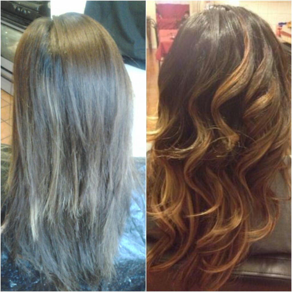 Healthy Hair Is Beautiful Hair Before And After Dark Brown Hair