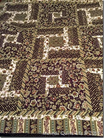 0115 UFO #6 - Green and Brown Quilt