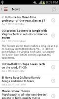 Screenshot of OU Mobile App