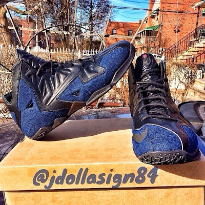 nike lebron 11 nsw sportswear ext denim 1 02 First Look at Nike Sportswear LeBron 11 EXT Denim