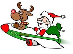 Санта с Рудольфом