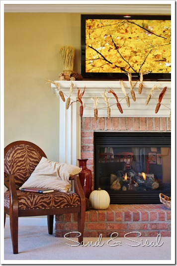 How to Decorate a Thanksgiving Mantel Around Your Huge TV ...