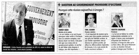 Questions al Govèrn Provisòrri Occitan Le Populaire debuta julhet 2011