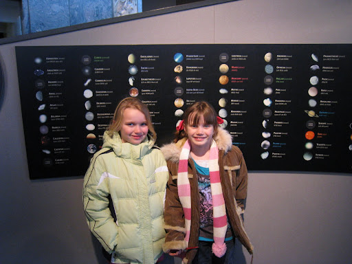 Brooklyn and Natalie at the Adler Planetarium - Chicago