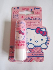 hello kitty strawberry lip balm, bitsandtreats