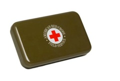 A vintage first aid-tin, also from the Red Cross.  Perfect for your desk drawer at work.