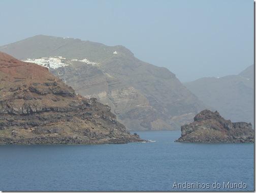 Chegada em Santorini