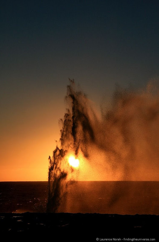 sunset blowhole