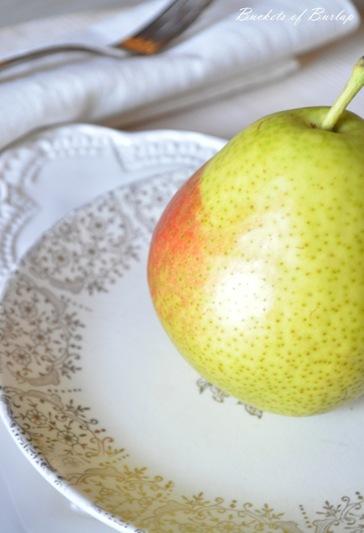 autumn plates & pears