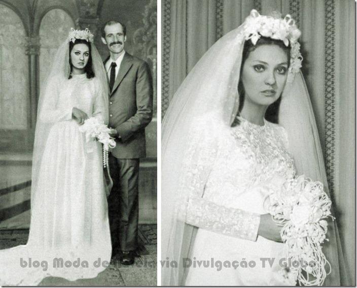 moda da novela avenida brasil - vestido de noiva da muricy