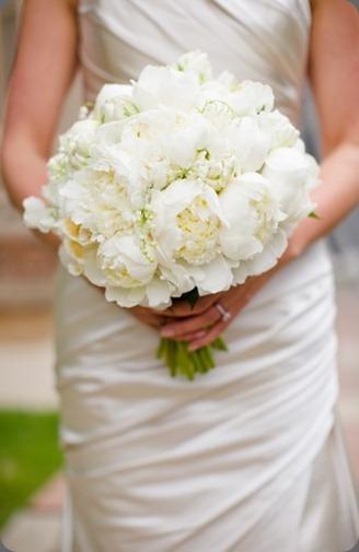 White Peony Brides Bouquet cori cook