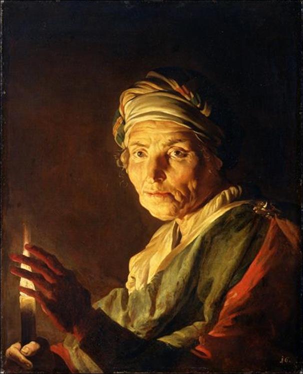 Mathias Stomet, Vieille femme à la bougie