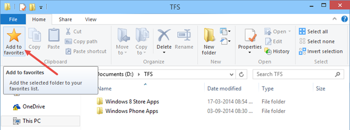 Add a Folder to favorites group in Windows 10 (www.kunal-chowdhury.com)