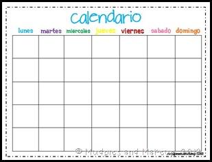 Galerry printable blank spanish calendar