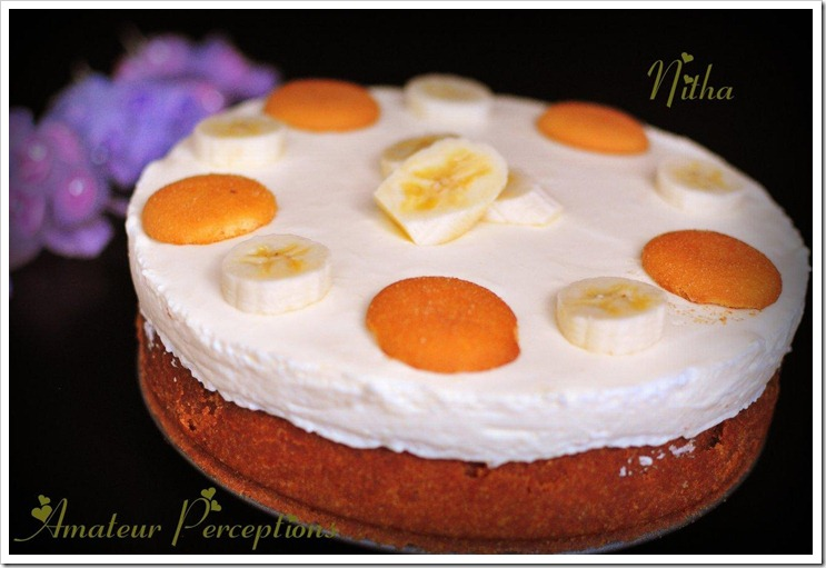 Banana Cream Cheese Cake 1
