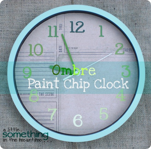 Ombre Clock Banner