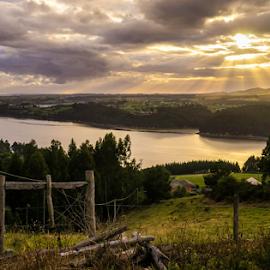 Eo stuary by Jorge Fernandez - Landscapes Sunsets & Sunrises ( galicia, ria, asturias, paisaje, amanecer, eo, sunrise, stuary, landscape, spain )