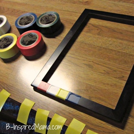 Rainbow Tape Frame DIY 2