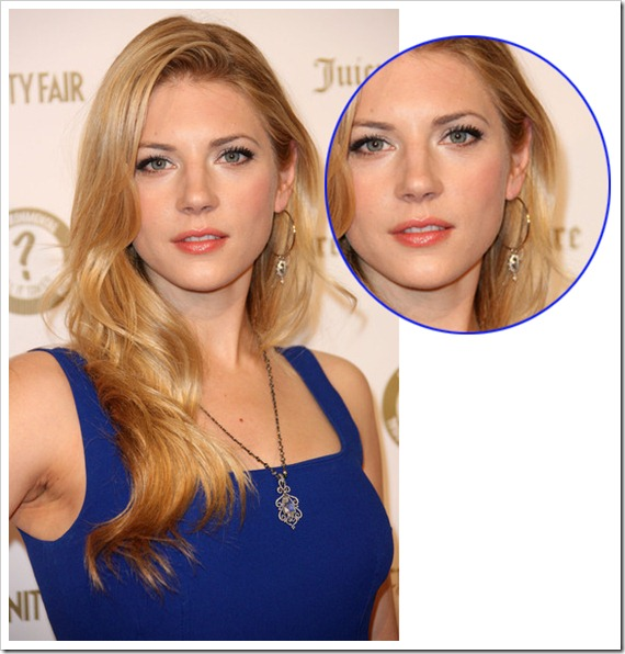 Katheryn Winnick Diamond Cross Hoop Earrings