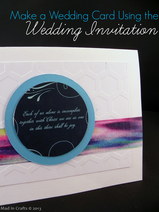 Make a Wedding Card Using the Wedding Invitiation