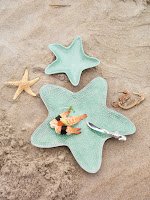 Aqua Enamel Starfish Sauce Dish $52.00