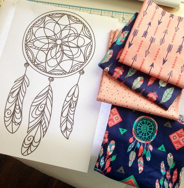 Dream Catcher Feather Embroidery Pattern