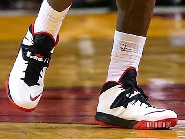 LeBron Laces Up a Nike Soldier Shoe First Time Since 2009 ...