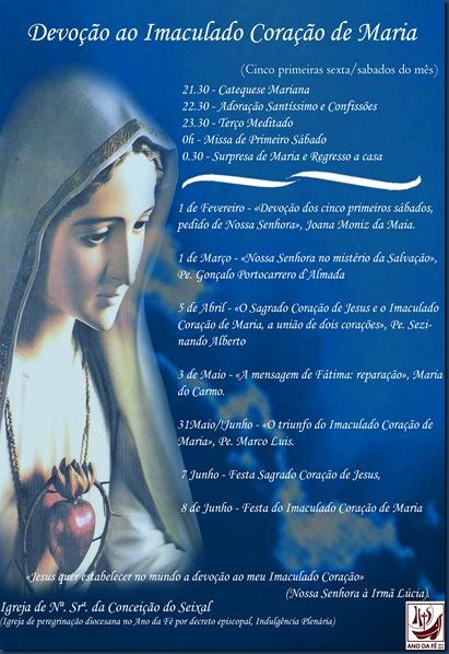 Cartaz de Devoção ao Imaculado Coração de Maria