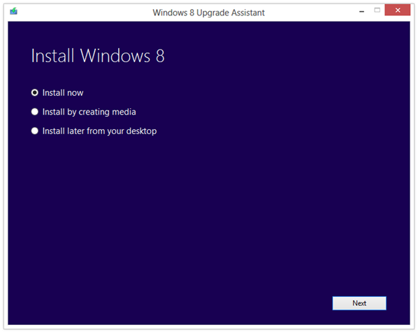 Windows 8 Upgrade Assistant