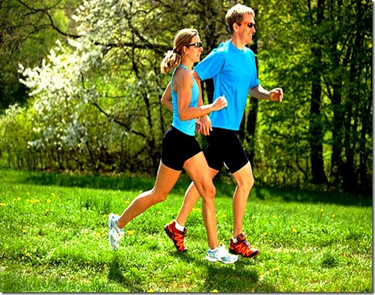 exercícios na primavera