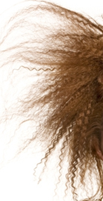 våfflat hår